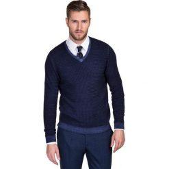 Sweter MANUELE SWGS000143. Brązowe swetry klasyczne męskie marki Giacomo Conti, na jesień, m, z wełny, z klasycznym kołnierzykiem. Za 399,00 zł.