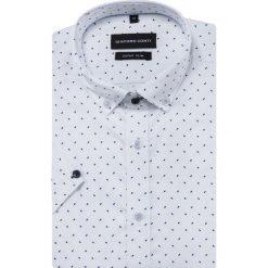 Koszula MICHELE KKBE000024. Białe koszule męskie na spinki Giacomo Conti, na lato, m, z bawełny, button down, z krótkim rękawem. Za 199,00 zł.