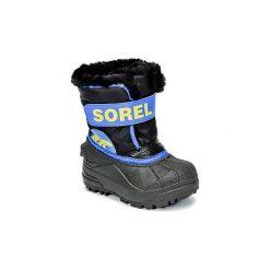 Śniegowce Dziecko Sorel  CHILDRENS SNOW COMMANDER. Czarne buty zimowe chłopięce Sorel. Za 184,00 zł.