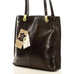 Plecaki damskie: Torebka włoska plecak skóra MAZZINI – PERLA czarny