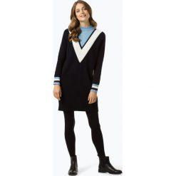 Tommy Hilfiger - Sukienka damska, niebieski. Niebieskie sukienki dzianinowe marki TOMMY HILFIGER, l, z dekoltem w serek. Za 849,95 zł.
