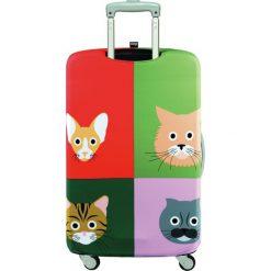 Pokrowiec na walizkę LOQI Stephen Cheetham Cats. Brązowe walizki LOQI, z elastanu. Za 114,00 zł.