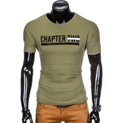 T-shirty męskie z nadrukiem: T-SHIRT MĘSKI Z NADRUKIEM S927 – KHAKI