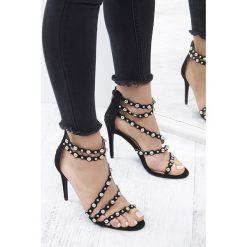 Sandały damskie: Czarno-Srebrne Sandały Hollywood Night