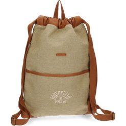 Plecak w kolorze jasnobrązowym - (S)35 x (W)46 cm. Brązowe plecaki męskie Pepe Jeans, z materiału. W wyprzedaży za 89,95 zł.