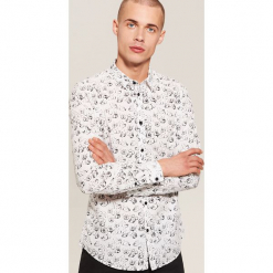 Koszula Mickey Mouse - Biały. Szare koszule męskie marki House, l, z bawełny. Za 99,99 zł.