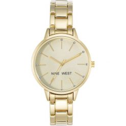 Zegarek Nine West Damski NW/2098CHGB Fashion Cyrkonie złoty. Żółte zegarki damskie Nine West, złote. Za 311,70 zł.