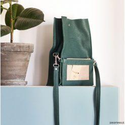 Boxy Bag / Dark Green - dwuczęściowa torebka. Zielone torebki klasyczne damskie Pakamera. Za 420,00 zł.