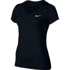 Topy sportowe damskie: Nike Koszulka treningowa Damska Victory Base Layer V-Neck Top W Czarna r. M – (824399-010)