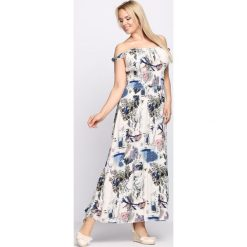 Sukienki: Biało-Niebieska Sukienka Forbearance