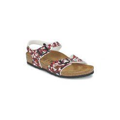 Sandały Dziecko  Birkenstock  RIO. Czerwone sandały dziewczęce Birkenstock. Za 231,20 zł.