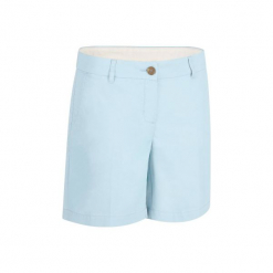 Spodenki do golfa 500 damskie. Niebieskie szorty damskie marki INESIS, z bawełny. W wyprzedaży za 34,99 zł.