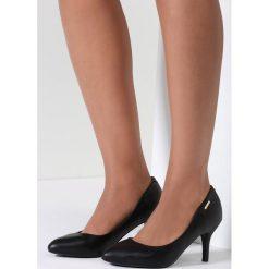 Buty ślubne damskie: Czarne Czółenka Craven