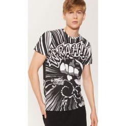 T-shirt z nadrukiem all over - Biały. Białe t-shirty męskie z nadrukiem marki House, l. Za 49,99 zł.