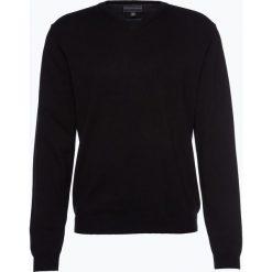 Finshley & Harding - Sweter męski z dodatkiem kaszmiru, czarny. Czarne swetry klasyczne męskie marki Finshley & Harding, w kratkę. Za 179,95 zł.