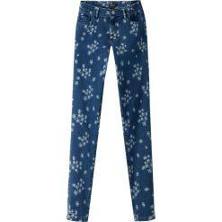 Dżinsy skinny z nadrukiem w kwiatki. Szare jeansy damskie marki La Redoute Collections, m, z bawełny, z kapturem. Za 151,16 zł.