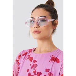 Okulary przeciwsłoneczne damskie aviatory: NA-KD Trend Owalne okulary przeciwsłoneczne – Pink,Blue,Multicolor