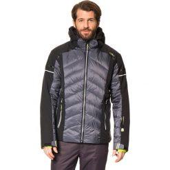 Puchowa kurtka narciarska w kolorze czarno-szarym. Czarne kurtki męskie puchowe CMP, m, z materiału. W wyprzedaży za 587,95 zł.