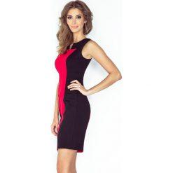 Sukienka dwukolorowa - CZARNY + CZERWONY - 2