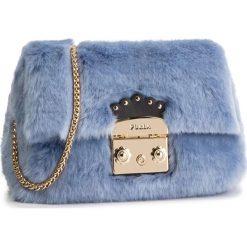 Torebka FURLA - Metropolis Nuvola Mini 993968 B BNC3 ECP Azzurp. Niebieskie torebki klasyczne damskie Furla, z materiału, zdobione. Za 1010,00 zł.