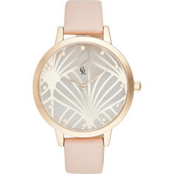 Zegarek kwarcowyw kolorze jasnobrązowym. Czerwone, analogowe zegarki damskie Stylowe zegarki. W wyprzedaży za 139,95 zł.