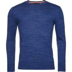 Swetry klasyczne męskie: Superdry ORANGE LABEL CREW Sweter mineral blue grindle