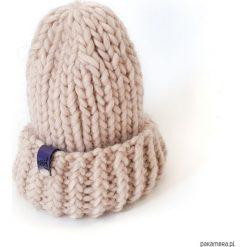 Czapka wełniana na drutach alpaka ecru beż. Szare czapki zimowe damskie Pakamera, z wełny. Za 179,00 zł.
