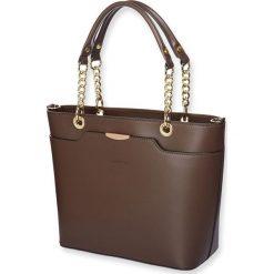 """Torebki klasyczne damskie: Skórzana torebka """"Virginia"""" w kolorze brązowym – 26 x 37 x 13 cm"""