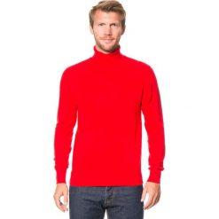 Golfy męskie: Golf w kolorze czerwonym
