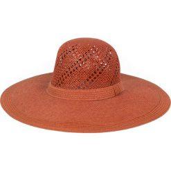Kapelusz damski Natural beauty pomarańczowy. Brązowe kapelusze damskie Art of Polo. Za 36,52 zł.