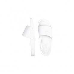 Klapki Kubota Classic White Plain. Białe klapki męskie marki The folk brand, ze skóry. Za 199,99 zł.
