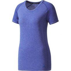 Koszulka do biegania damska ADIDAS PRIMEKNIT WOOL TEE / BP6856 - PRIMEKNIT WOOL TEE. Niebieskie bluzki z odkrytymi ramionami Adidas, z krótkim rękawem. Za 179,00 zł.