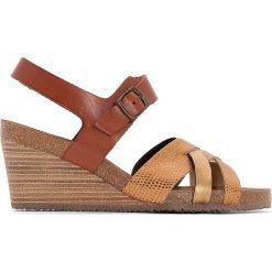 Rzymianki damskie: Skórzane sandały na platformie SPICY