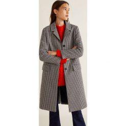 Mango - Płaszcz Lock. Szare płaszcze damskie marki Mango, l, z bawełny, klasyczne. Za 349,90 zł.