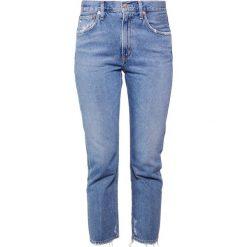 Agolde CIGARETTE LOW SLUNG Jeansy Slim Fit passenger. Niebieskie jeansy damskie relaxed fit Agolde. W wyprzedaży za 383,60 zł.
