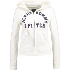 Abercrombie & Fitch HOLIDAY LOGO Bluza rozpinana off white. Białe kardigany damskie Abercrombie & Fitch, xl, z bawełny. Za 349,00 zł.