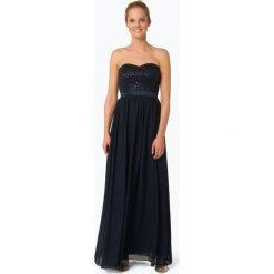 Marie Lund - Damska sukienka wieczorowa, niebieski. Niebieskie sukienki balowe Marie Lund, w koronkowe wzory, z koronki, z gorsetem, gorsetowe. Za 549,95 zł.