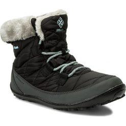 Śniegowce COLUMBIA - Youth Minx Shorty Omni-Heat Waterproof BY1334 Black/Sparay 010. Czarne buty zimowe damskie Columbia, z materiału. Za 319,99 zł.