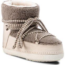 Buty INUIKII - Boot Curly 70101-16 Taupe. Brązowe buty zimowe damskie Inuikii, z materiału, na niskim obcasie. Za 1549,00 zł.