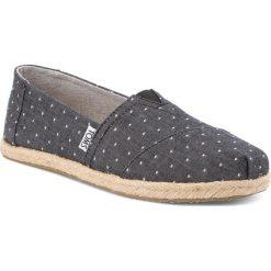 Espadryle TOMS - Classic 10011653 Black Dot Chambray. Szare tomsy damskie marki Toms, z materiału, na płaskiej podeszwie. W wyprzedaży za 189,00 zł.