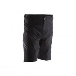 Spodenki na rower MTB 900. Czarne odzież rowerowa męska marki ROCKRIDER, z elastanu, sportowe. Za 99,99 zł.