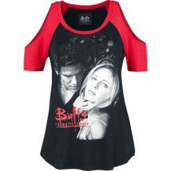 Buffy: Postrach Wampirów Buffy & Angel Koszulka damska czarny/czerwony. Szare bluzki nietoperze marki TOMMY HILFIGER, m, z nadrukiem, z bawełny, casualowe, z okrągłym kołnierzem. Za 74,90 zł.
