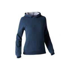 Bluza z kapturem Gym & Pilates 520 damska. Niebieskie bluzy sportowe damskie marki DOMYOS, xs, z bawełny, z kapturem. W wyprzedaży za 34,99 zł.