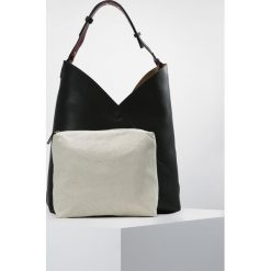 Shopper bag damskie: Topshop ASSYMETRIC HOBO Torba na zakupy black
