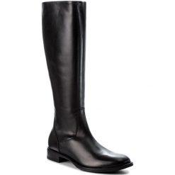Oficerki GINO ROSSI - Nevia DKG129-G12-3V00-9900-F 99. Czarne buty zimowe damskie marki Gino Rossi, z polaru, przed kolano, na wysokim obcasie, na obcasie. W wyprzedaży za 519,00 zł.