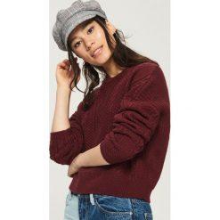Sweter z warkoczowym splotem - Fioletowy. Fioletowe swetry klasyczne damskie Sinsay, l, ze splotem. Za 59,99 zł.