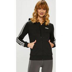Adidas Performance - Bluza. Czarne bluzy z kapturem damskie adidas Performance, l, z bawełny. Za 229,90 zł.