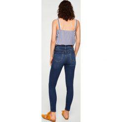 Mango - Jeansy Soho. Niebieskie jeansy damskie marki Mango, z podwyższonym stanem. W wyprzedaży za 97,93 zł.