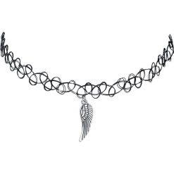 Naszyjniki damskie: Mysterium® Wings Tattoo Necklace Naszyjnik czarny/odcienie srebrnego