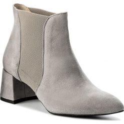 Botki GINO ROSSI - Hiromi DSH773-Z63-0020-8300-0 09. Szare buty zimowe damskie marki Gino Rossi, z materiału, na obcasie. W wyprzedaży za 289,00 zł.